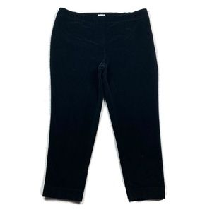 J Jill Corduroy Pants Straight Leg Black Solid